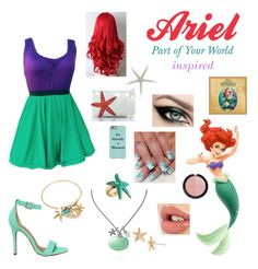 """""""Ariel 1 (The Little Mermaid - Part Of Your World)"""" by starlightdreamer14 ❤ liked on Polyvore featuring Shoe Republic LA, Sea Bags, Avenue, ki-ele, Charlotte Tilbury, Forever 21, disney, Disneyprincess and disneycharacter"""