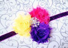 Purple Glitter Swirl Headband by BrittsBeautyBoutique on Etsy, $7.25