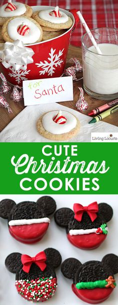 Cute Christmas Cookies to inspire you this holiday season. Easy cookie recipes t., Cute Christmas Cookies to inspire you this holiday season. Easy cookie recipes to make with kids! Some of the best Christmas cookie ideas. Cute Christmas Cookies, Christmas Cookie Exchange, Christmas Sweets, Christmas Goodies, Holiday Cookies, Holiday Baking, Christmas Desserts, Holiday Treats, Christmas Baking