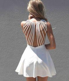 Fancy - Lattice Open Back Dress