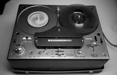 Reel to reel machine used for recording oral history