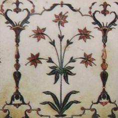 Pietra Dura- Taj Mahal Intarsien 1 Mughal Architecture, Art And Architecture, Bead Embroidery Patterns, Beaded Embroidery, Indian Fabric, Color Of Life, Botanical Illustration, Floral Motif, Islamic Art