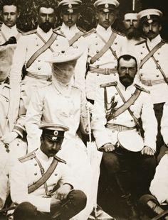 The Emperor and Empress with the Reg. Cavalry, c.1904