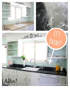 Amazing budget kitchen redo! Giani Granite Countertop paint in ...