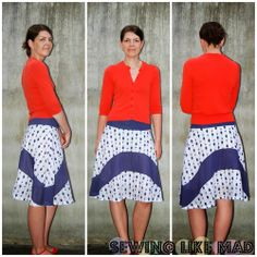 Wave Skirt - How to Sew a Women's Curved Seam Skirt