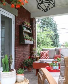 Summer Porch Styling