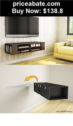 furniture wall mount media center shelf floating console tv stand cabinet buy it