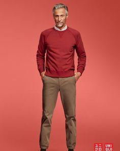 Fashion For Men Over 50, Older Mens Fashion, Men's Fashion, Fashion Trends, Older Men Haircuts, Silver Foxes Men, How To Look Better, Men Sweater, Guys