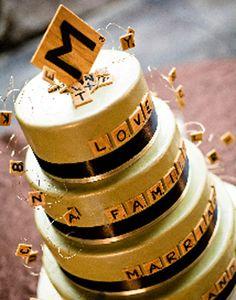 #Scrabble themed #cake