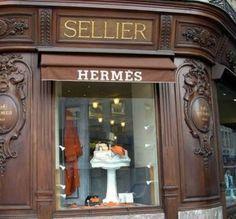 """HERMES, Avenue George V, Paris..... the """"historic"""" shop is rue Saint -Honoré, Paris."""