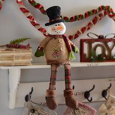 Rustic Snowman Shelf Sitter $16.99