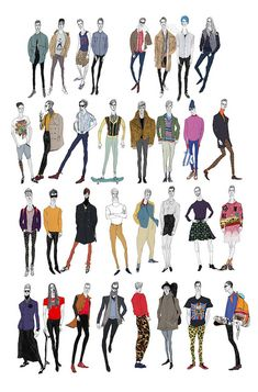 Jiiakuan - what do boys wear - fashion illustrations