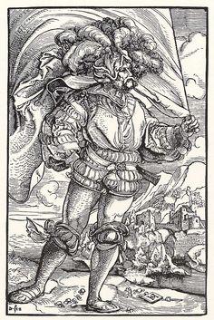 Artist: Schäufelein, Hans Leonhard, Title: Fähnrich [1], Date: ca. 1515