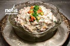 Tavuklu Köz Patlıcan Salatası (Meze) Tarifi