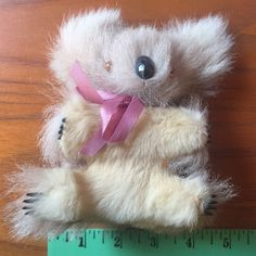 Vintage 1970's Real Fur Koala Plush Stuffed Toy. 5 1/2 X 4 . Sweet Face To Love  | eBay