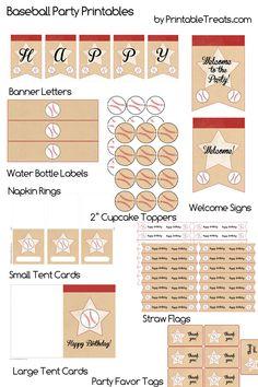 {free} Baseball Birthday Party Decorations