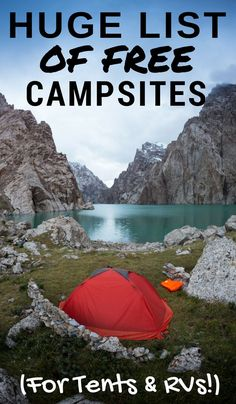 Here is a HUGE list of free campsites.
