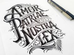 Logo&Type - Handlettering by Mateusz Witczak, via Behance