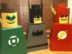 How To : DIY Lego Man Costume for kids : DIY Halloween DIY Lego Man Costume-or make miniature ones as Valentine Boxes! Valentine Day Boxes, Valentine Crafts, Holiday Crafts, Holiday Fun, Valentines, Lego Halloween Costumes, Lego Man Costumes, Diy Costumes, Diy Lego Costume