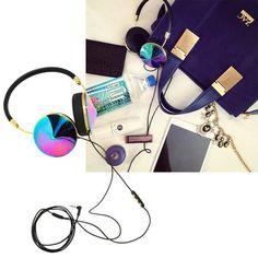 By @cocorocha / Harper's Bazaar: #FRENDS Oil Slick #Headphones, wearefrends.com.
