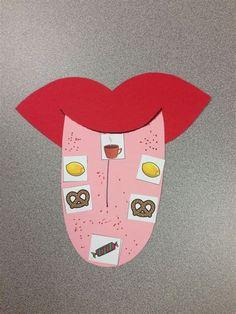 Preschool Five Senses Crafts five senses craft sense of taste tongue map visit www