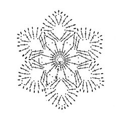 Baby Afghan Crochet Patterns, Crochet Snowflake Pattern, Crochet Stars, Crochet Motifs, Crochet Snowflakes, Crochet Flowers, Crochet Stitches, Crochet Christmas Decorations, Holiday Crochet