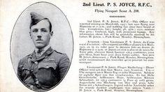 Second Lieutenant P S Joyce WWI archives in hampshire