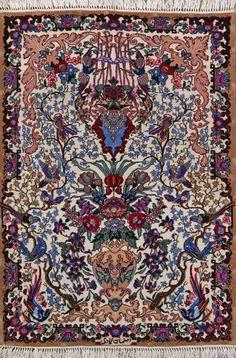 Esfahan Persian Rug, Buy Handmade Esfahan Persian Rug 2 7 x 3 8, Authentic Persian Rug $1,780.00