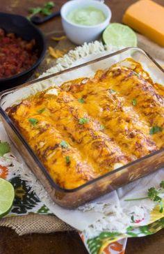 Healthy Chicken Enchiladas: Brinner Beauty - Food Fanatic