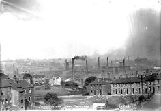 View of Huddersfield from Primrose Hill, Source: Kirklees Image Archive Huddersfield Town, Image Archive, Pms, Paris Skyline, Black And White, Travel, Blanco Y Negro, Viajes, Black White