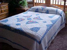 SALE Beautiful chenille bedspread of light blue by designer2, $149.00