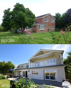 New England remodelling project with contemporary twist by Back to Front Dream House Exterior, House Exteriors, House Renovations, Home Remodeling, Dream Home Design, House Design, New England Style, Hallway Ideas, Reno Ideas