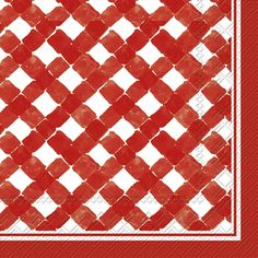 IHR Rosanne Beck Gingham red Lattice Look Printed 3-Ply Paper Luncheon Napkins Wholesale L016501