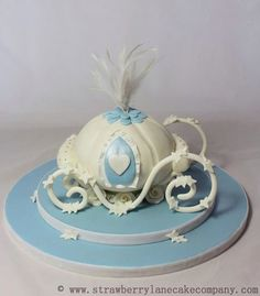 white carriage cake - Google Search