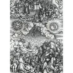Opening of the Fifth & Sixth Seals Albrecht Durer (1471-1528 German) Engraving Canvas Art - Albrecht Durer (18 x 24)