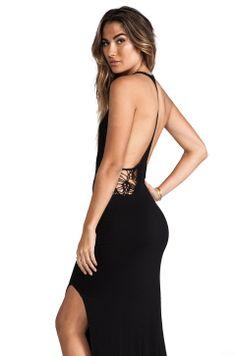 Indah Atlantic Cut Away Maxi Dress in Black from REVOLVEclothing