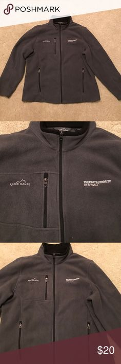 Eddie Bauer Fleece Zip Up Very comfortable Fleece by Eddie Bauer. Only worn a hand full of times and like new condition. Eddie Bauer Shirts Sweatshirts & Hoodies