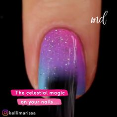 Let the magic of these nail design ideas inspire you for your next mani! Nail Art Designs Videos, Cute Nail Art Designs, Nail Art Videos, Simple Nail Designs, Nail Art Hacks, Nail Art Diy, Easy Nail Art, Diy Nails, Glitter Nail Art