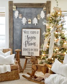 """I wanted to show you my kids area upstairs, tell you how you can decorate on a budget, and also tell you a fun little secret about how to make these cute little free trees! """"Budget friendly&#…"""