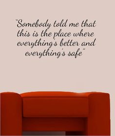 One Tree Hill Quote Vinyl Wall Decal. from the wall in Karen's Cafe! Papa Quotes, Tv Quotes, Life Quotes, Vinyl Wall Quotes, Vinyl Wall Decals, One Tree Hill Quotes, Safe Room, Film, Beautiful Words