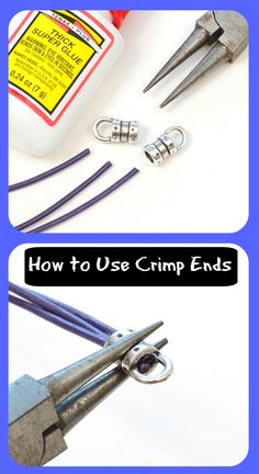 Great Blog entry explaining how to use crimp ends for your jewelry designs. This is a great How-to. #diy #jewelrymaking #tips #clasps