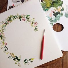 Freehand watercolor painting #art #invitations