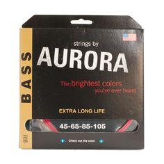 Aurora Coloured Bass Guitar Strings – Fretfunk