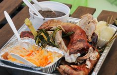 Cebu-Style Lechon at Legal Beans BBQ in Jersey City. Some of the best spit roasted lechon I've ever had.