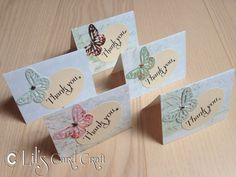 Handmade Cards  Thank You  5 Blank Cards by LilsCardCraft on Etsy, $3.50