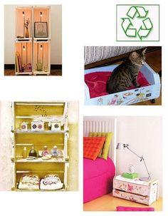 ideias para utilizar caixotes de madeira na decoração