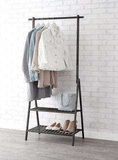 Dark Wood Clothing Racks Home Storing Clothes, Tie Rack, Home Organisation, Garment Racks, Quilt Bedding, Wardrobe Rack, Duvet Covers, Walmart, Shelves