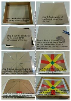 DIY Beyblade Stadium from cardboard! http://www.tanfamilychronicles.com/2013/01/the-home-made-diy-beyblade-stadium.html