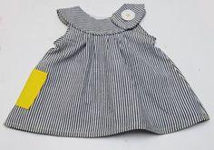 Free Toddler Dress Sewing Patterns | Round yoke dress sewing pattern