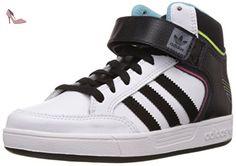 adidas Varial Mid, Sneakers Basses mixte enfant, Blanc (Ftwr White/Core Black/Light Aqua), 38 2/3 EU (UK child 5.5 Enfant UK) - Chaussures adidas (*Partner-Link)